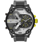 Diesel DZ7422 Mr. Daddy 2.0 Chronograph Grey Gunmetal Yellow