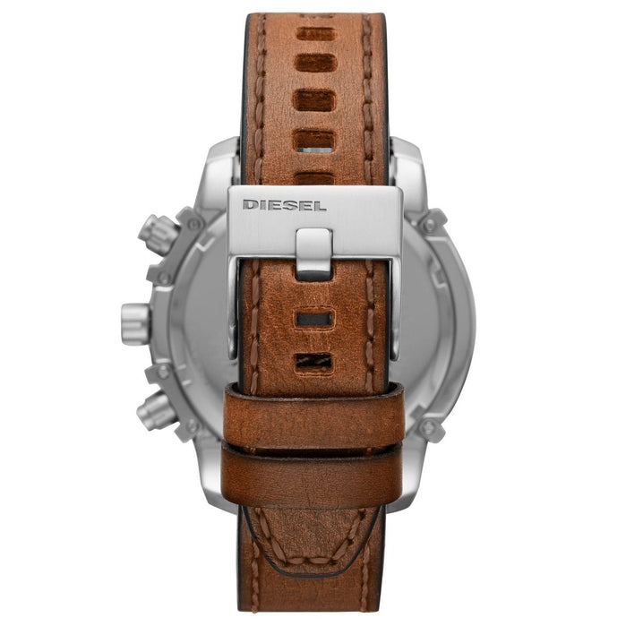 Diesel DZ4518 Griffed Chronograph Brown Blue angled shot picture