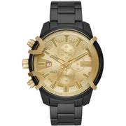 Diesel DZ4525 Griffed Chronograph Black Gold SS