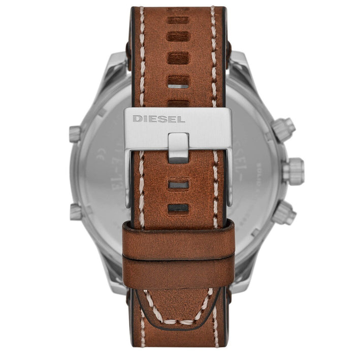 Diesel DZ7424 Boltdown Chronograph Blue Brown angled shot picture