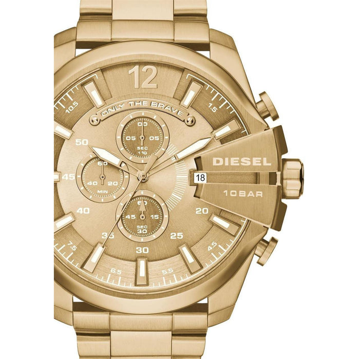 Diesel Mega Chief Chronograph All Gold angled shot picture