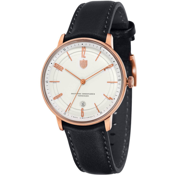 DuFa Bayer Swiss Automatic Black Rose Gold White