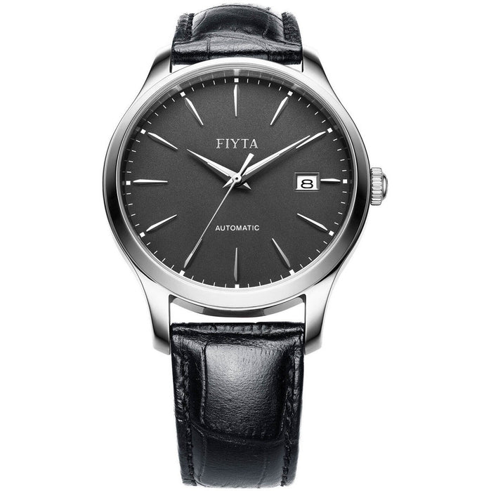Fiyta Classic Sapphire Automatic Silver Black angled shot picture