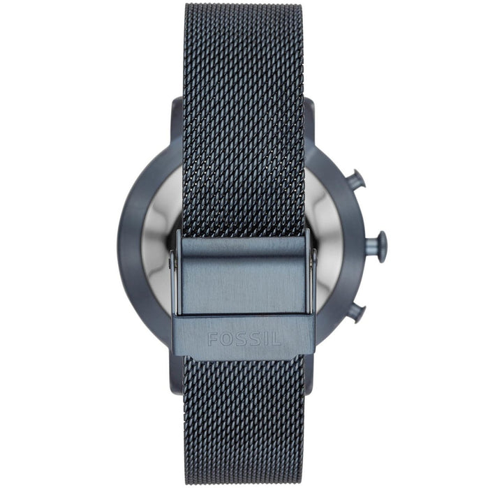 Fossil FTW5031 Hybrid Smartwatch Q Neely Navy Mesh angled shot picture