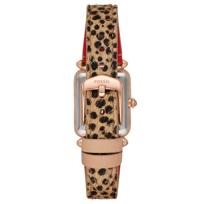 Fossil ES4684 Lyric Leopard Rose Gold angled shot picture