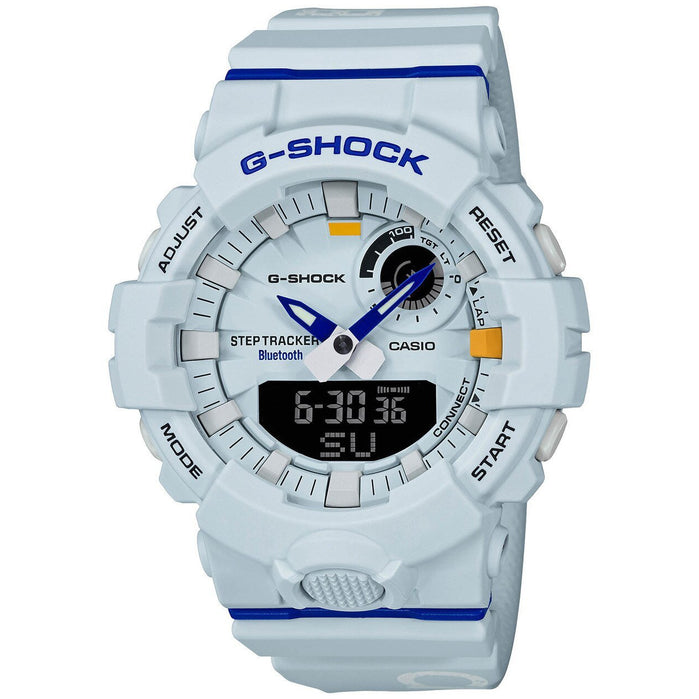 G-Shock GBA800DG Beastin' It Up! White Blue angled shot picture