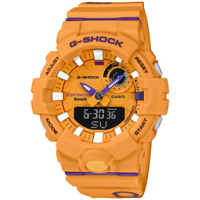 G-Shock GBA800DG Beastin' It Up! Yellow Purple angled shot picture