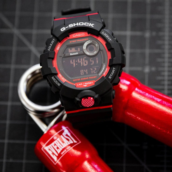 G-Shock GBD800 Bluetooth Activity Tracker Black Red angled shot picture