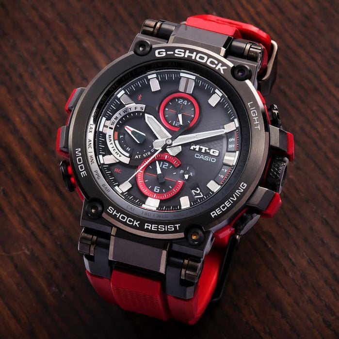 G-Shock MTG-B1000 Triple G-Resist Black Red angled shot picture