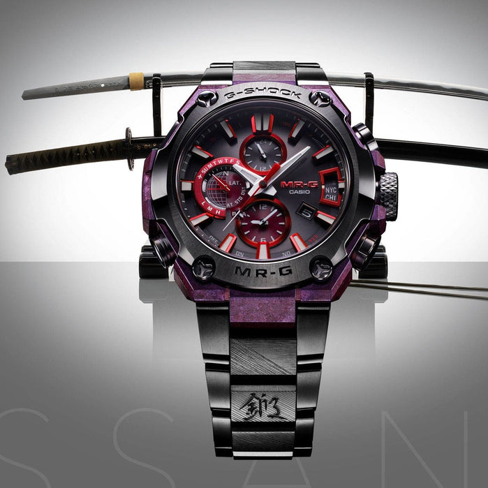 G-Shock MRG 2019 Basel Edition Gassan Collab Connected Purple Black angled shot picture