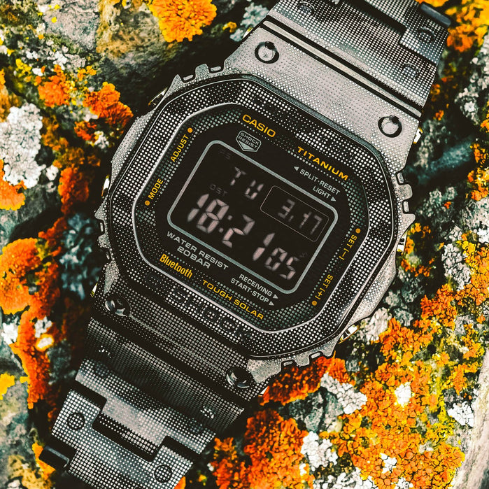 G-Shock GMW-B5000TCM Titanium Digital Camo Limited Edition angled shot picture