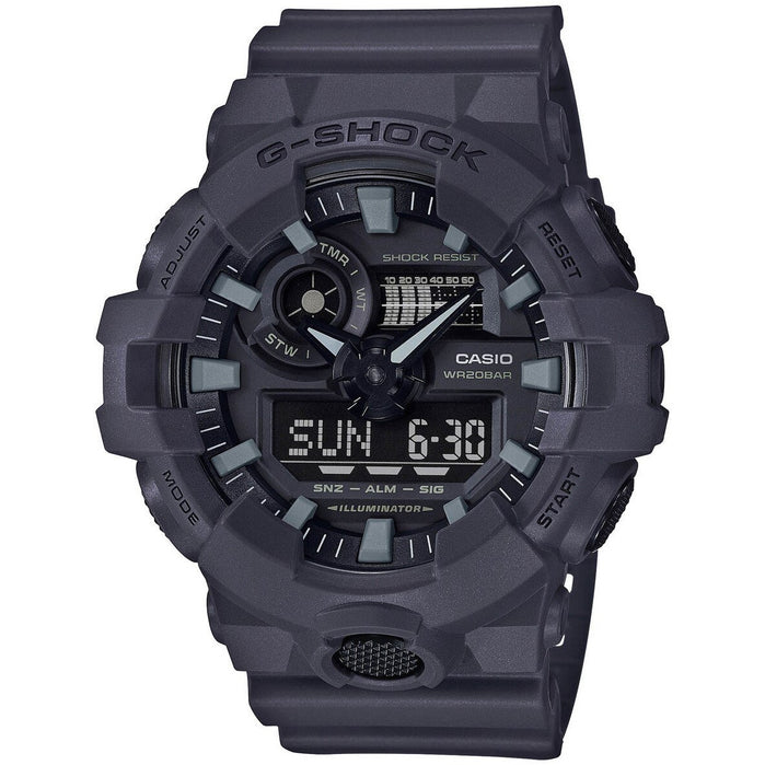 G-Shock GA700 Ana-Digi Gray angled shot picture