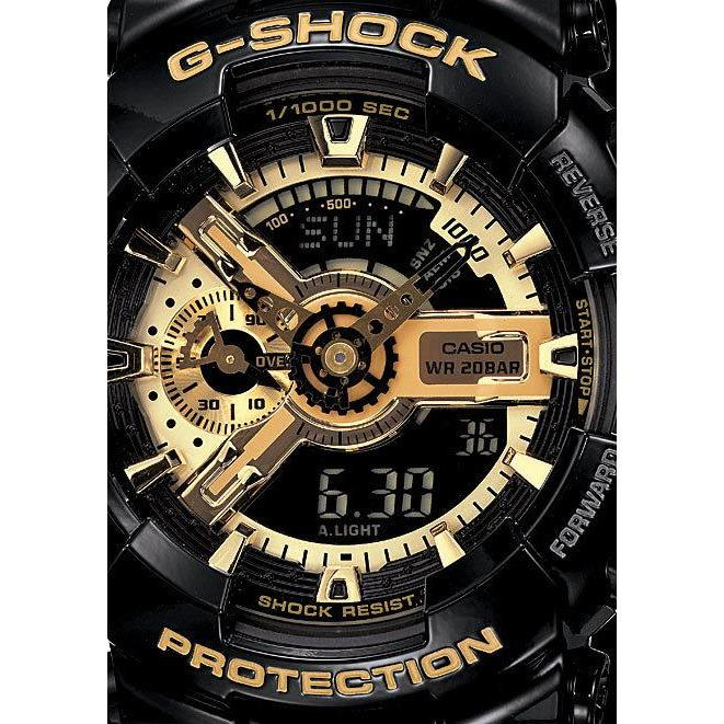 G-Shock GA-110GB Black & Gold Special Edition Ana-Digi Black Gold angled shot picture