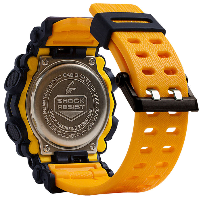 G-Shock GA900 Black Yellow angled shot picture