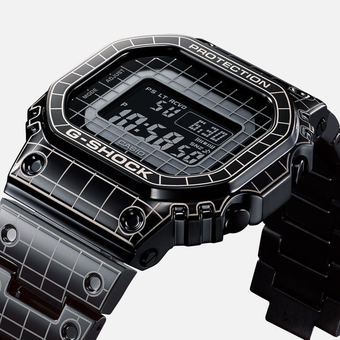 G-Shock GMWB5000CS-1 Grid Tunnel Connected Black angled shot picture