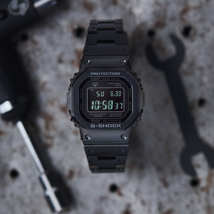 G-Shock GMWB5000GD Full Metal Connected Solar All Black angled shot picture