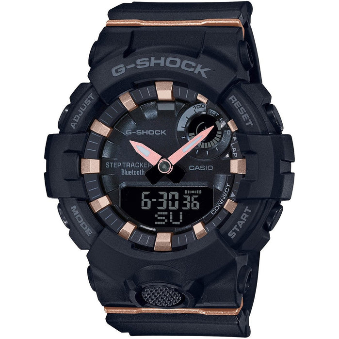 G-Shock GMAB800 S-Series Fitness Ana-Digi Black Rose Gold angled shot picture