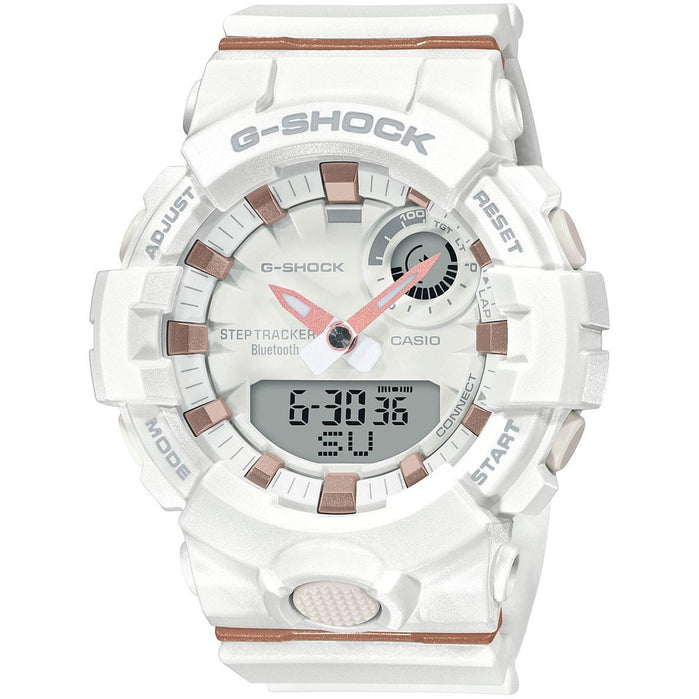 G-Shock GMAB800 S-Series Fitness Ana-Digi White Rose Gold angled shot picture