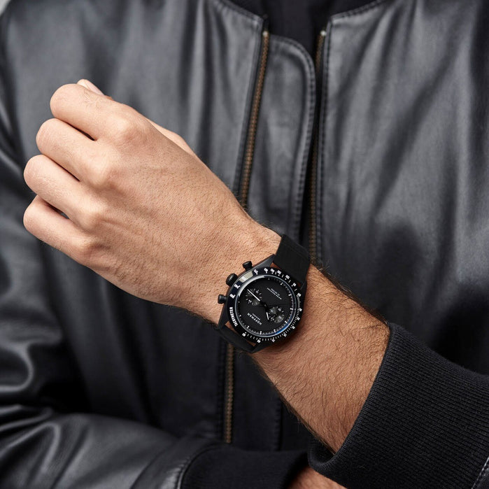 Hoffman Racing 40 Chronograph All Black angled shot picture