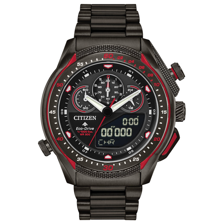 Citizen Eco-Drive Promaster SST Chronograph Black Red