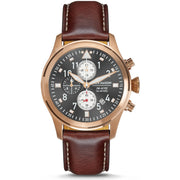 Jack Mason Aviation Pursuit Chronograph Grey Brown