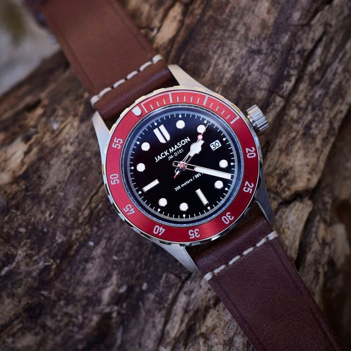 Jack Mason Diver Red Brown angled shot picture