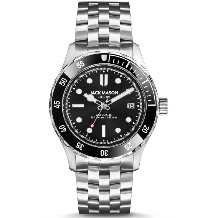 Jack Mason Diver Automatic Stainless Steel Black