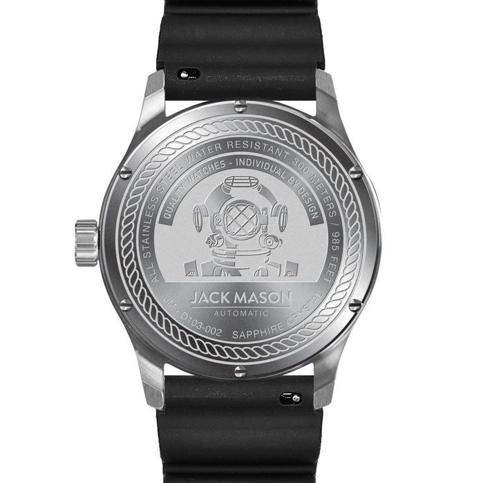 Jack Mason Diver Automatic Rubber Black angled shot picture