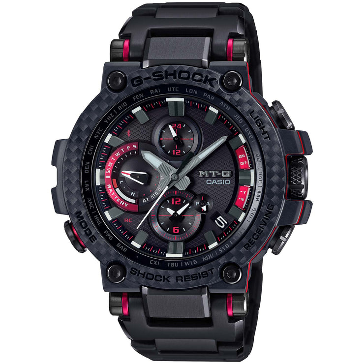 G-Shock MTGB100 Carbon Connected Solar Black Red