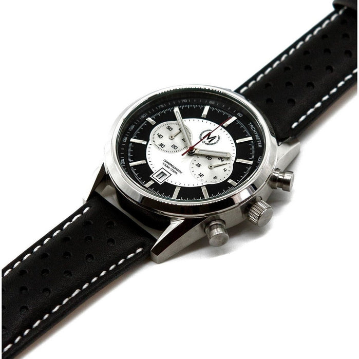 Marchand Tourer Chronograph Black White angled shot picture