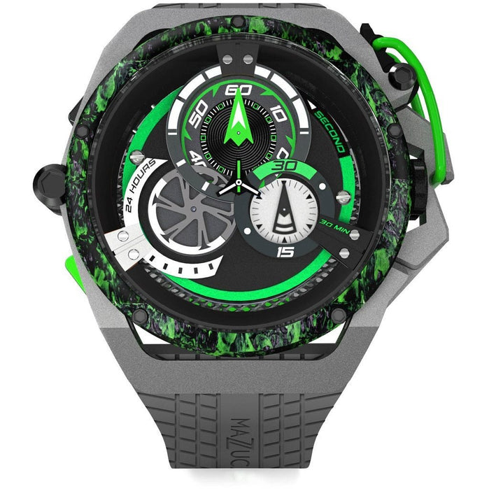 Mazzucato RIM Monza Racing Automatic Black Green angled shot picture