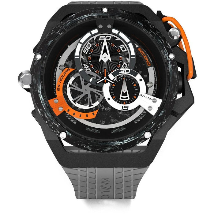 Mazzucato RIM Monza Racing Automatic Grey Orange angled shot picture