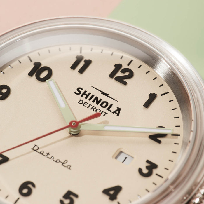 Shinola Detrola 43mm The Mint Condition angled shot picture