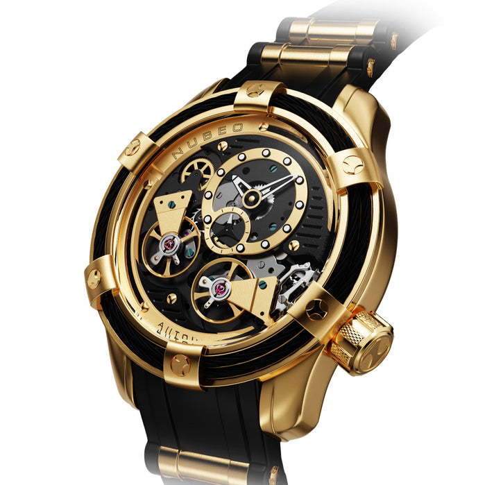 Nubeo Vanguard Automatic Space Gold angled shot picture