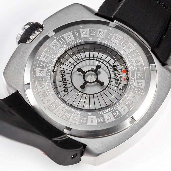 Nsquare Casino Limited Edition Automatic Silver angled shot picture