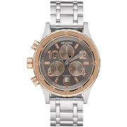 Nixon 38-20 Chrono Silver Rose Gold Taupe