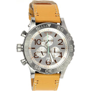 Nixon 42-20 Chrono Leather Natural
