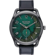Nixon C45 Leather Gun Green Oxyde