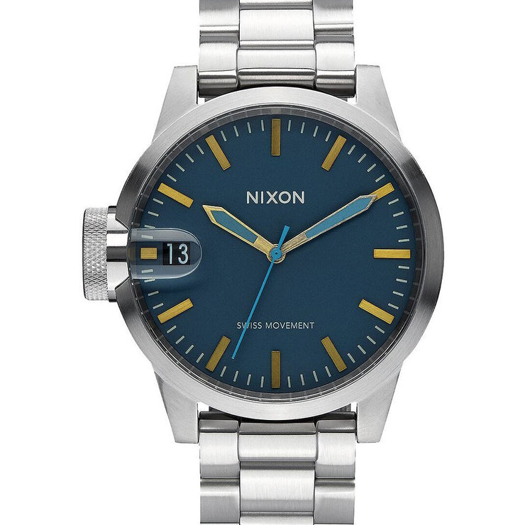 Nixon Chronicle 44 Navy/Brass