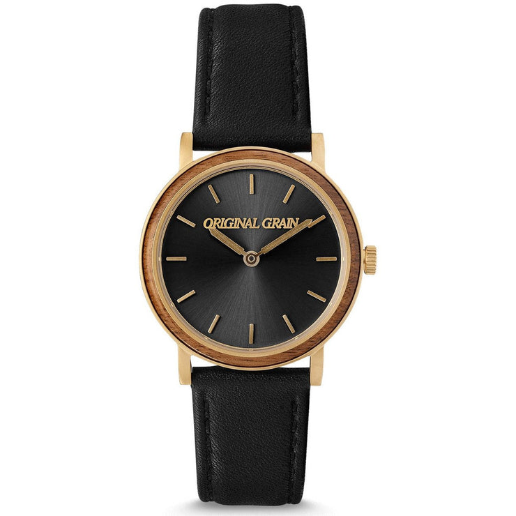 Original Grain Avalon Koa Wood 34mm Gold Black