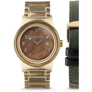 Original Grain Military Brigade 42mm Gold Brown