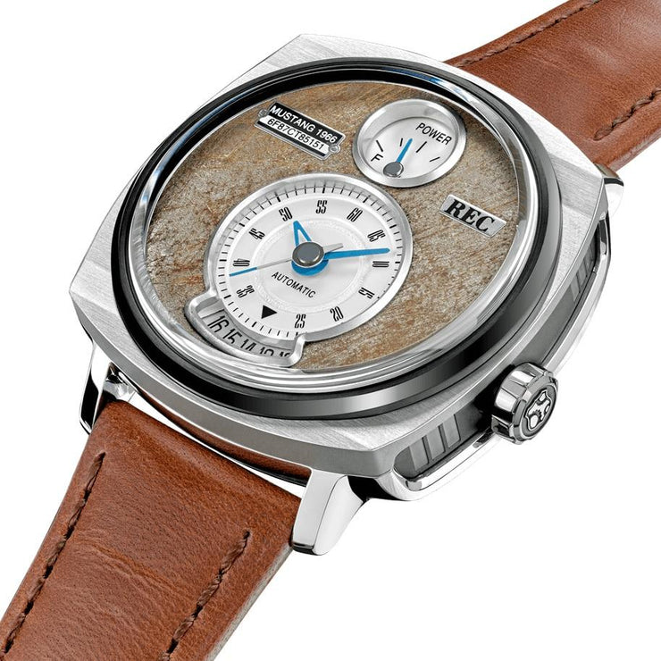 REC P51-02 Automatic Silver Brown Limited Edition