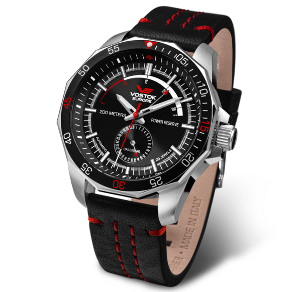 Vostok-Europe N1-Rocket Automatic Black Red angled shot picture