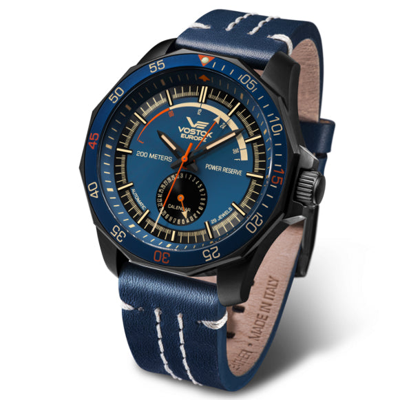 Vostok-Europe N1-Rocket Automatic Blue angled shot picture