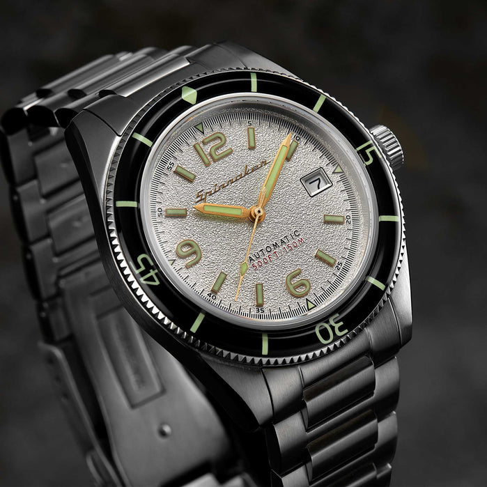 Spinnaker Fleuss Automatic Silver White angled shot picture