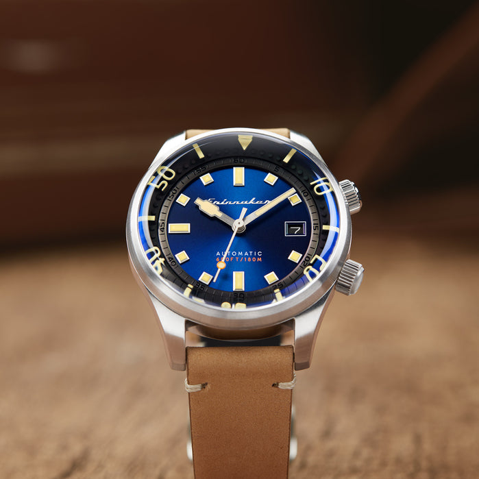 Spinnaker Bradner Automatic Tidal Blue angled shot picture