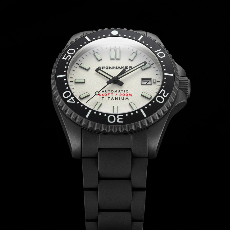 Spinnaker Tesei Automatic Titanium Everlight White