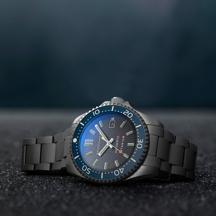 Spinnaker Tesei Automatic Titanium Shadow Gray angled shot picture
