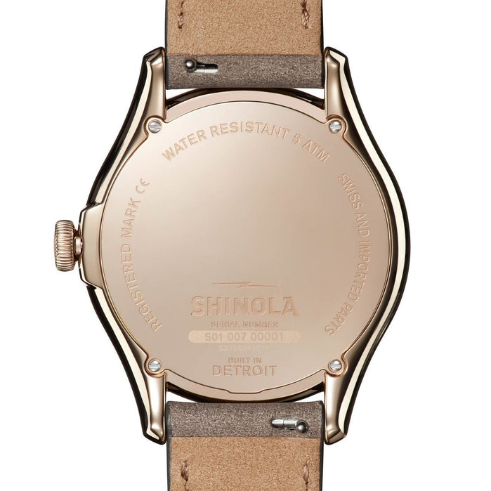 Shinola Vinton 38mm Rose Gold Ivory angled shot picture
