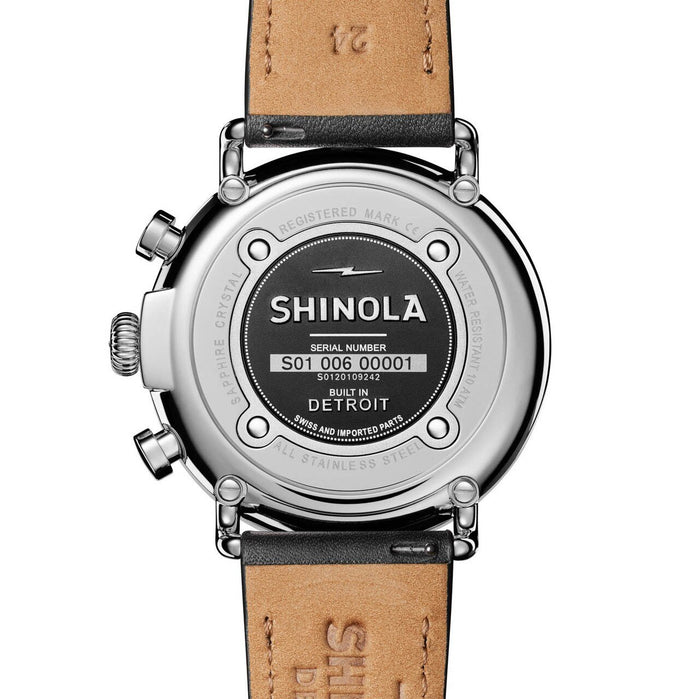 Shinola Runwell Chrono 47mm Black Silver angled shot picture